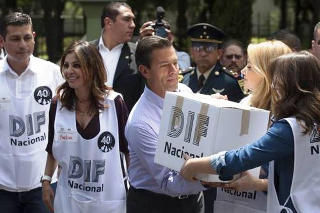 En la ayuda a damnificados no habrá lucro ni intermediarismo, asegura Peña Nieto