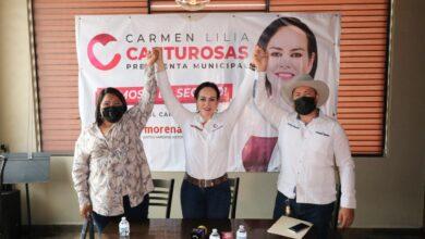Declinan candidatos de RSP a favor de Carmen Lilia Canturosas