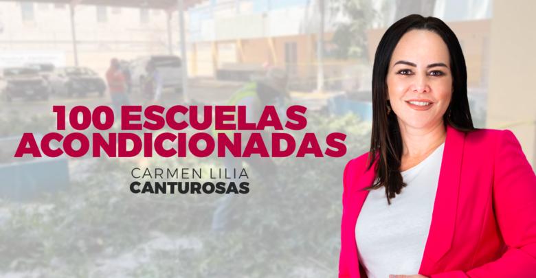 Carmen Lilia Canturosas acondiciona 100 escuelas, en Nuevo Laredo